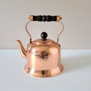 Copper teapot kettle.